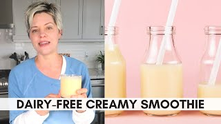 5-Ingredient Mango Peach Smoothie (Dairy-Free, Vegan-Friendly)