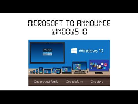 Microsoft to Announce Windows 10