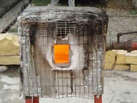 Horno a gas para reciclar virio youtube - Como se hace horno de lena ...