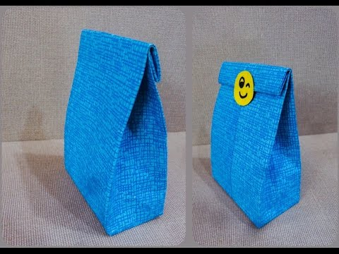 How to make a PAPER BAG ? Easy+Quick