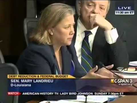 Sen. Mary Landrieu (D-LA) Wants More Taxes