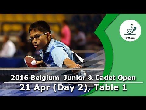 2016 Belgium Junior & Cadet Open - Day 2 LIVE (TABLE 1)