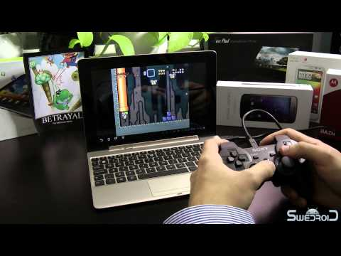 ASUS Transformer Prime gaming / emulator session with the PS3 Dual Shock 3 gamepad