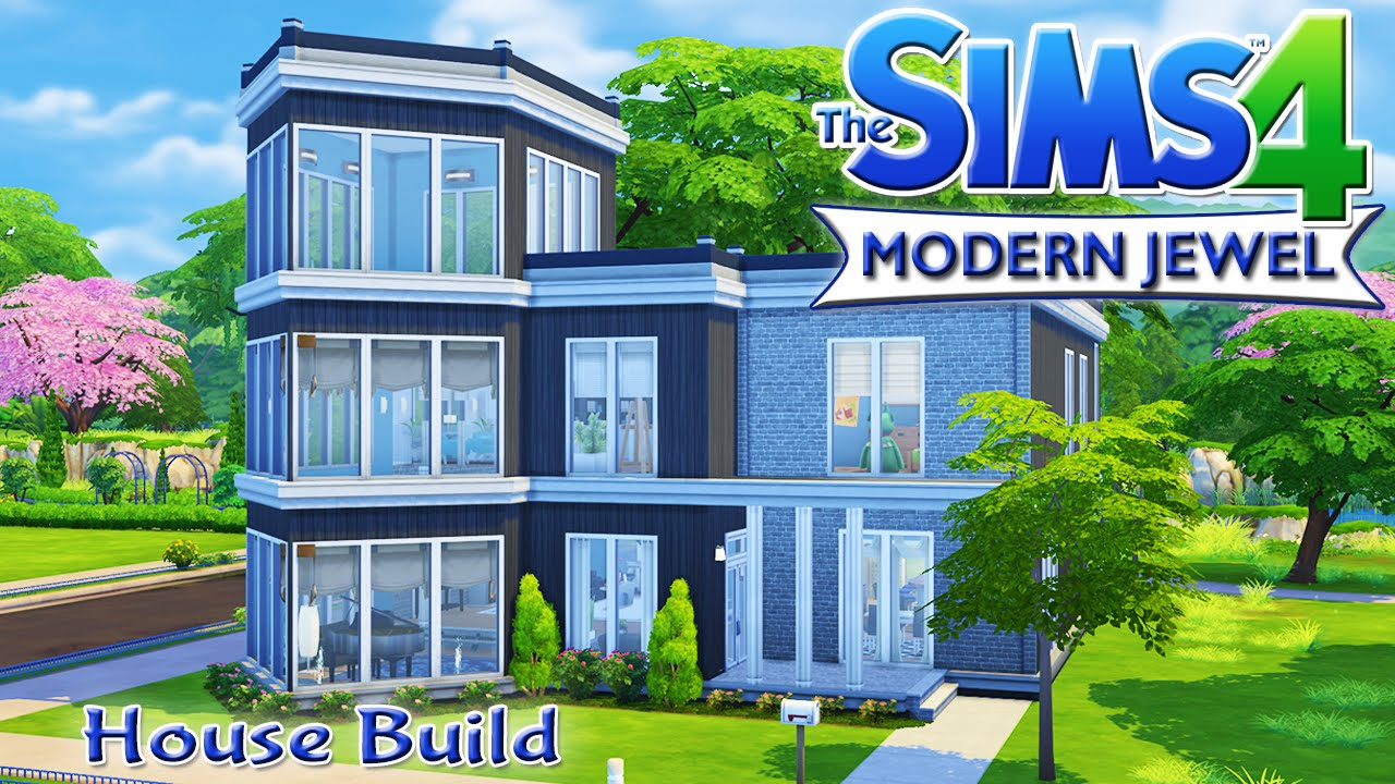 The sims 4 house build modern jewel family home youtube for What is needed to build a house