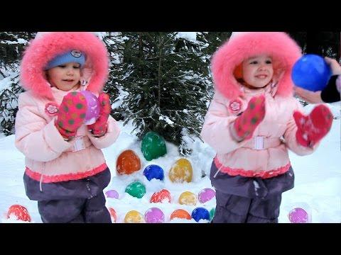 Как сделать ледяные шары из воздушных шариков.