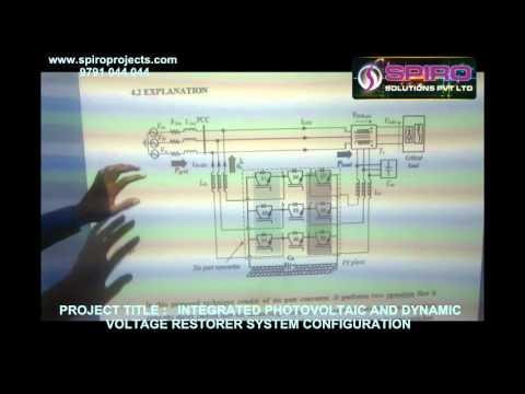 INTEGRATED PHOTOVOLTAIC AND DYNAMIC VOLTAGE RESTORER SYSTEM CONFIGURATION