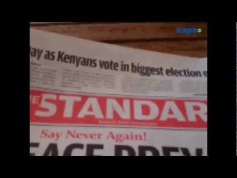 Vote counting begins after largely peaceful election in Kenya
