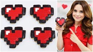 PIXEL HEART CINNAMON COOKIES - NERDY NUMMIES