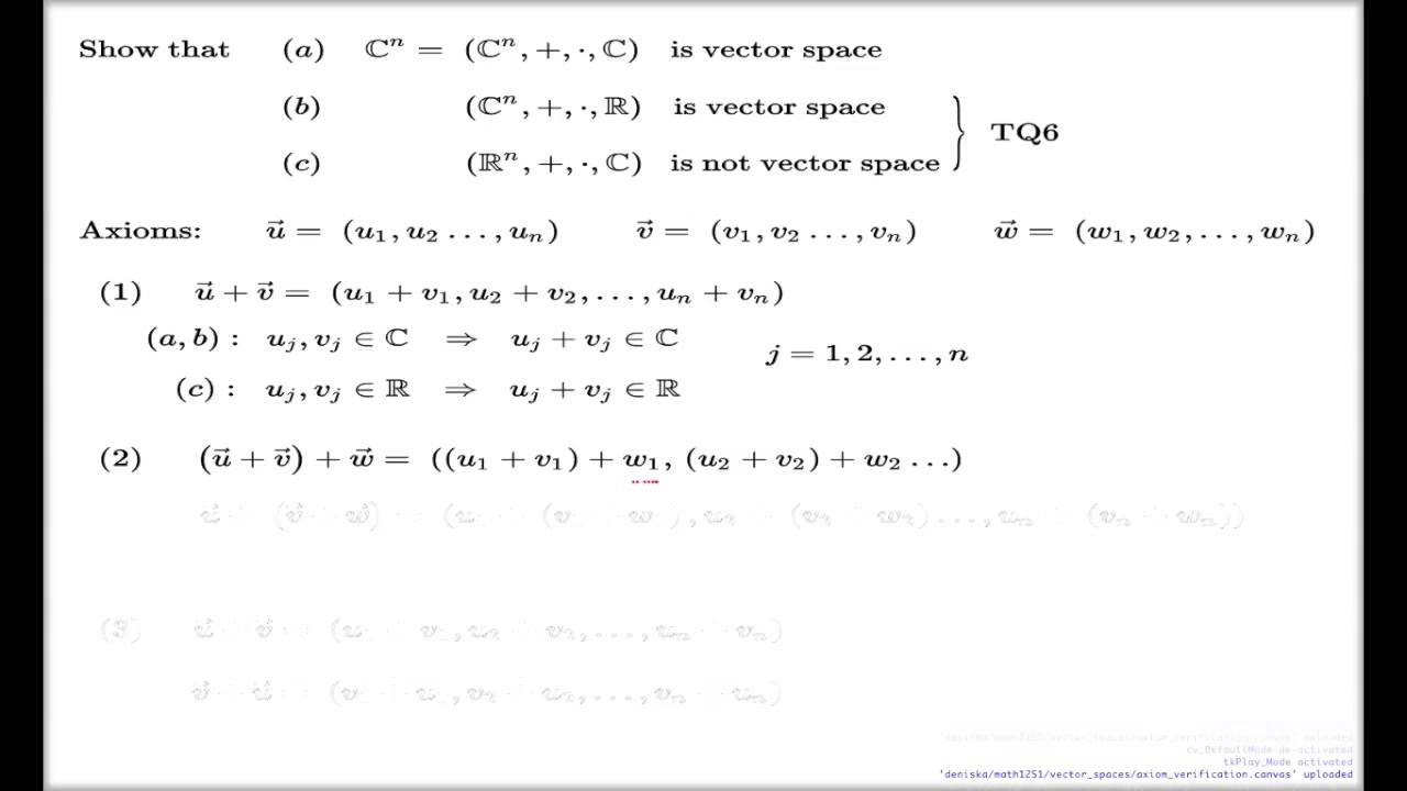 41 Vector Spaces amp Subspaces  University of Connecticut