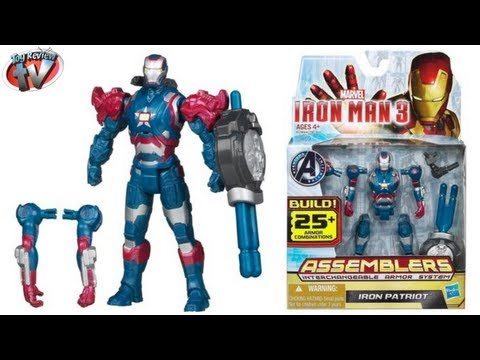 Iron Man 3 Iron Patriot Assemblers Action Figure Toy Review, Hasbro