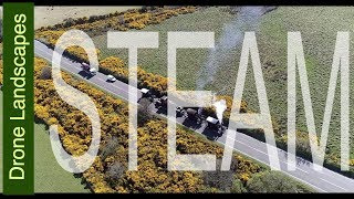 Festival of Steam - Steam Engines at the Gooseneck - Isle of Man by Drone