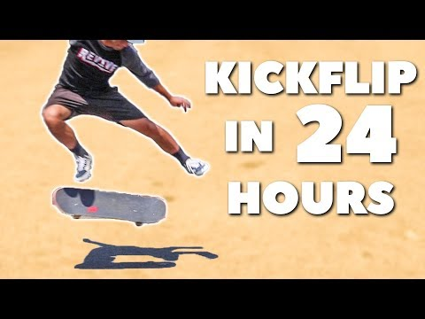 Learn KICKFLIP in Under 24 HOURS!!