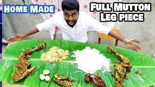 Veetu Virunthu   Full Mutton Leg Piece cooking Dan JR Chennai Vlogger  MEDAVAKKAM VELACHERY  foodie