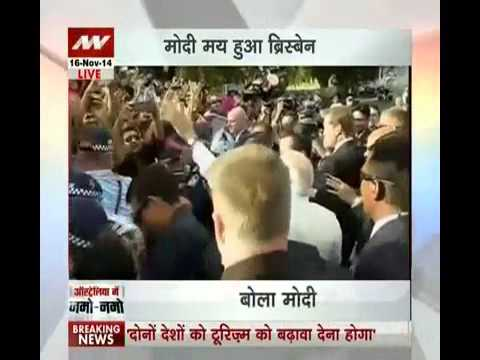 PM Modi welcomed by audience at civic reception in Queensland