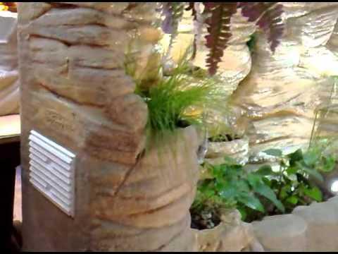 film 2 d cor africain fontaine aquarium cascade mural aquapotier youtube. Black Bedroom Furniture Sets. Home Design Ideas