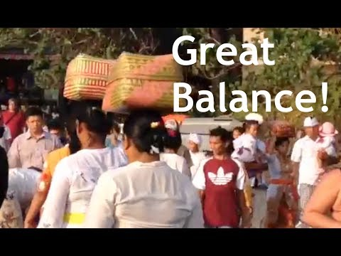 Such balanced women in Bali, Indonesia!