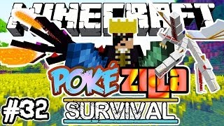 BATALHA DE REIS! - PokéZilla Survival! - Minecraft #32