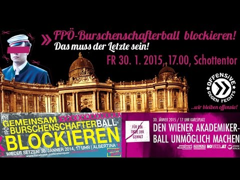 LIVE: Demonstration gegen den Akademikerball 2015