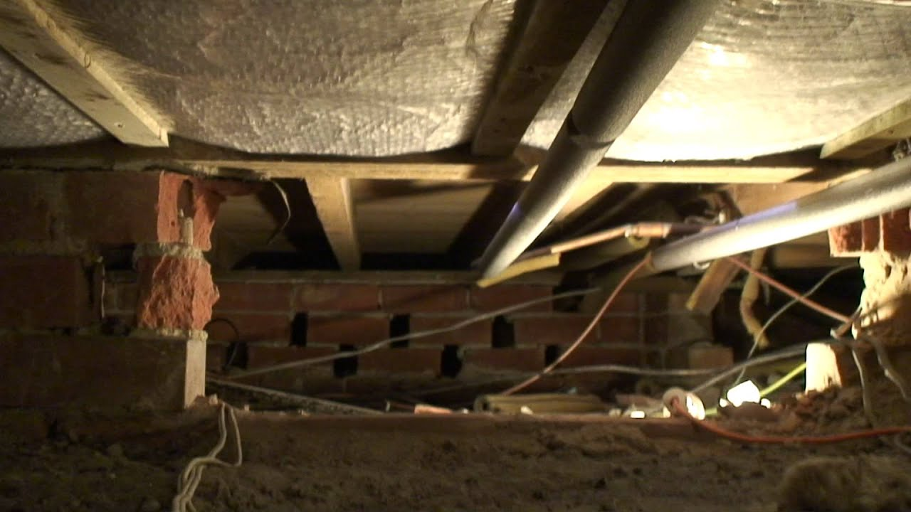 Retrofitting Insulation To A Suspended Floor Youtube