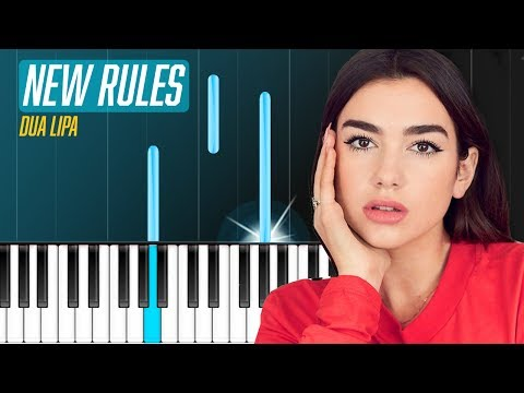 """Dua Lipa - """"New Rules"""" Piano Tutorial - Chords - How To Play - Cover"""