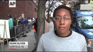Hundreds Wait Days for Union Jobs in NYC  8/19/13