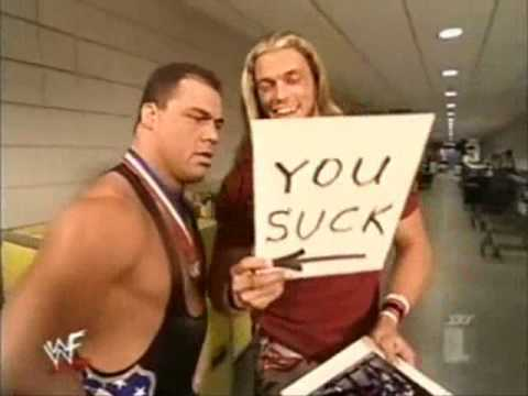 Edge Makes Fun Of Kurt angle
