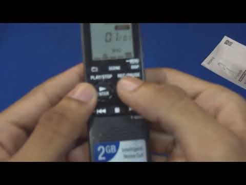 Unboxing Gravador de Voz Sony ICD-PX312