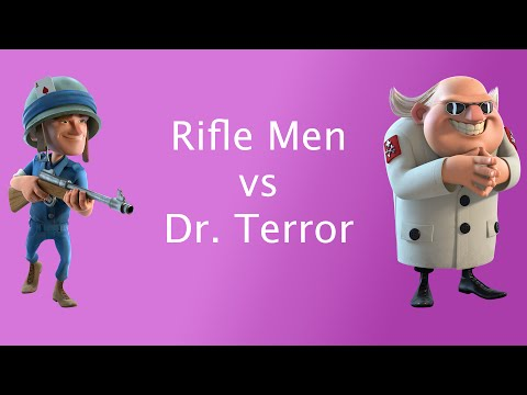 Boom Beach - Dr Terror Stage 10 with Level 12 Riflemen