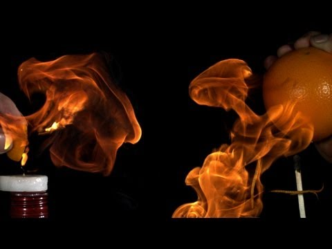 High Speed Video • Flaming Citrus Oil