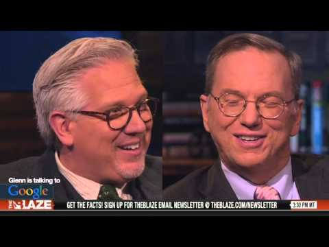 "Google's Eric Schmidt & Jared Cohen w/ Glenn Beck book ""The New Digital Age"""