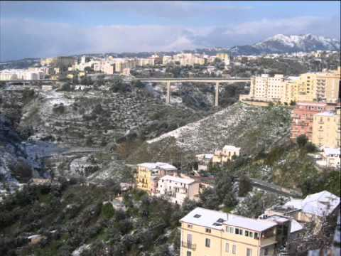 Catanzaro innevata dopo la nevicata del 16 dicembre 2010