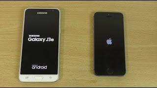 Samsung Galaxy J3 2016 vs iPhone 5S - Speed & Camera Test!