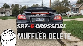SRT-6 Supercharged Crossfire Gets a Muffler Delete | His FIRST Mod!