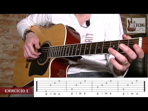 Aprende como tocar guitarra acústica desde cero! Arpegio con dedos para principiantes /Tutorial TCDG