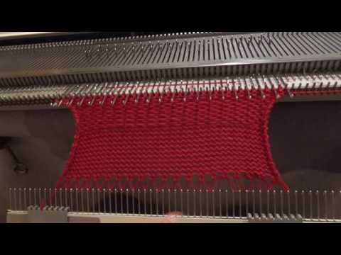 Вязание на двухфонтурной машине нева 11 73