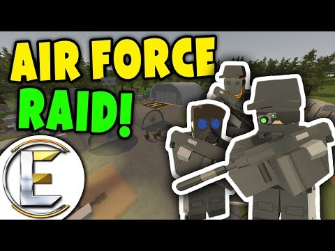 Unturned - AIR FORCE RAID! | We are special forces raiding to collect alien crystals ( Roleplay ) thumbnail