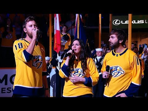Lady Antebellum sing Star Spangled Banner ahead of Game 5