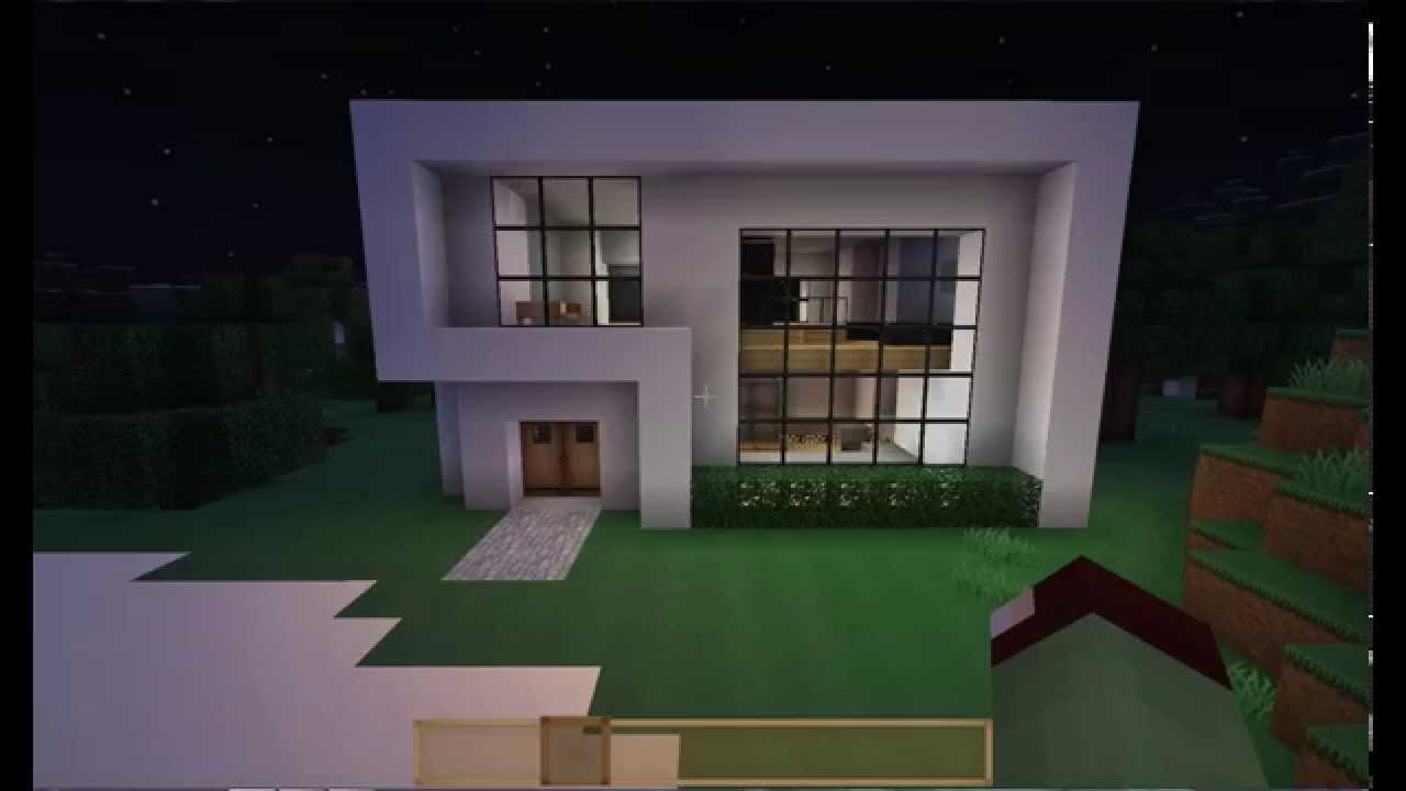 Minecraft i peque a casa moderna 15x15 youtube for Casa moderna madera minecraft