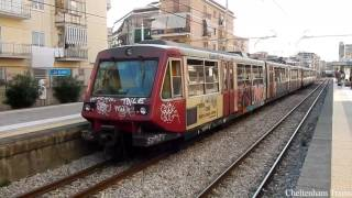 Circumvesuviana trains in Italy August 2016
