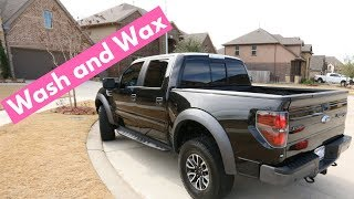 WASH and WAX on a Black 2014 Ford Raptor - Rinseless Car Wash Tips