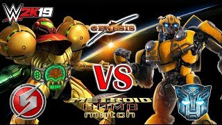 TRANSFORMER'S BUMBLEBEE vs METROID'S SAMUS ARAN RETRO CHAMPIONSHIP ON THE LINE AT GENESIS!