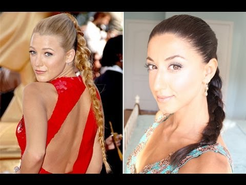 Blake Lively Inspired High Braided Ponytail