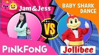 Baby Shark Dance Remix Challenge with JOLLIBEE | Jam&Jesse vs. Jollibee Dance Challenge | #Pinkfong
