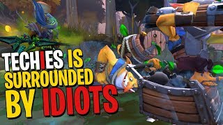 Surrounded By Idiots Techies Is - DotA 2