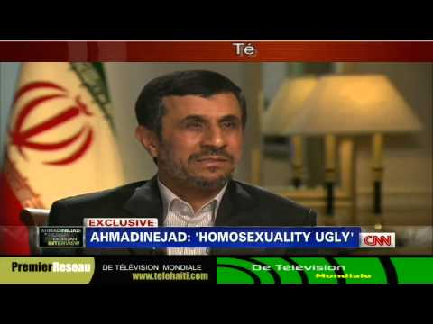 "Gay :President Iran Ahmadinejad Slams homosexuality CNN's ""Piers Morgan"" 9-24-2012"