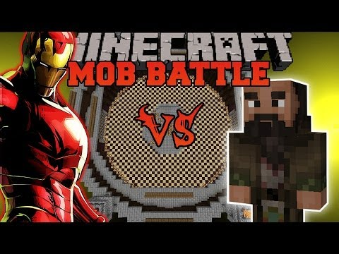 IRON MAN VS MANDARIN - Minecraft Mod Battle - Mob Battles - Superheroes Unlimited Mod