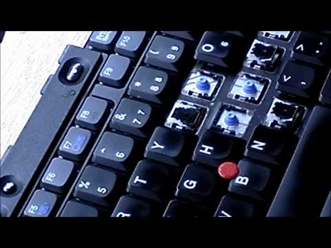 Tutorial: How to remove and replace keys on a Thinkpad Keyboard Laptop in 1080P