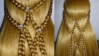 Быстрая причёска на каждый день самой себе на средние/длинные волосы. Плетение волос/кос  в школу