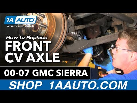 How To Install Replace Front Axle CV Joint Chevy Silverado Suburban GMC Sierra 0