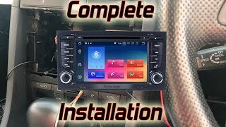 Seicane -  Audi A4 - Android Head Unit Installation